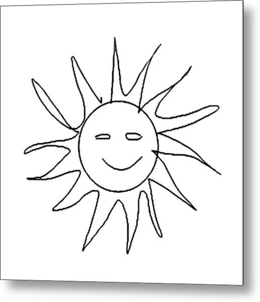 6.57.hungary-6-detail-sun-with-smile Metal Print