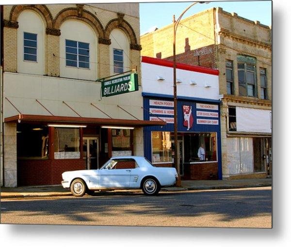 66 Mustang Down Town Metal Print by Danny Jones