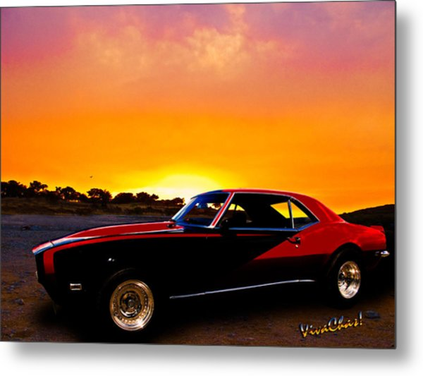 69 Camaro Up At Rocky Ridge For Sunset Metal Print