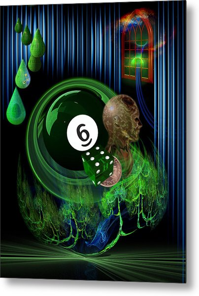 6th Sense Blues Metal Print by Draw Shots