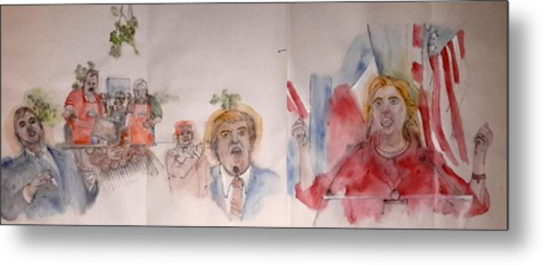 2016 Presidential Campaign  Album  Metal Print
