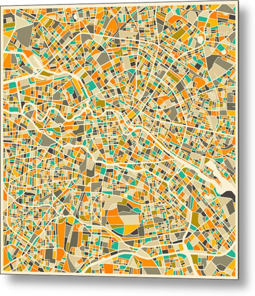 Berlin Map Metal Print