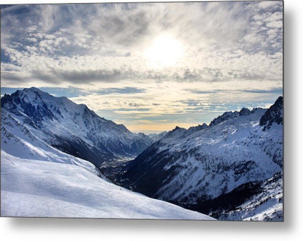 Chamonix Resort In The French Alps Metal Print