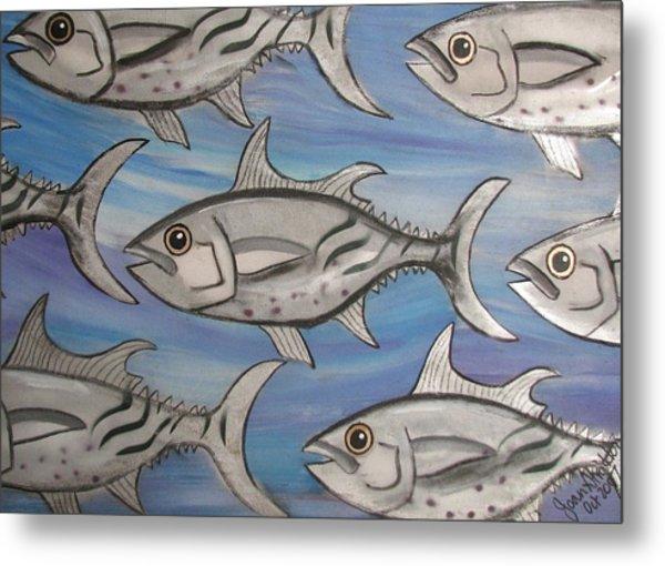 7 Fish Metal Print