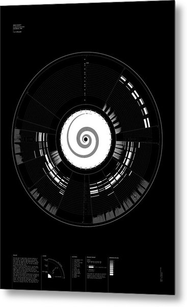 7 Melody Metal Print by Oddityviz Space Oddity