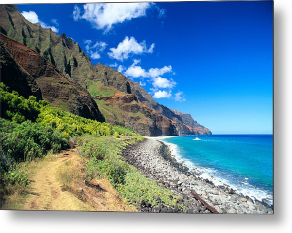 Na Pali Coast Metal Print by Peter French - Printscapes