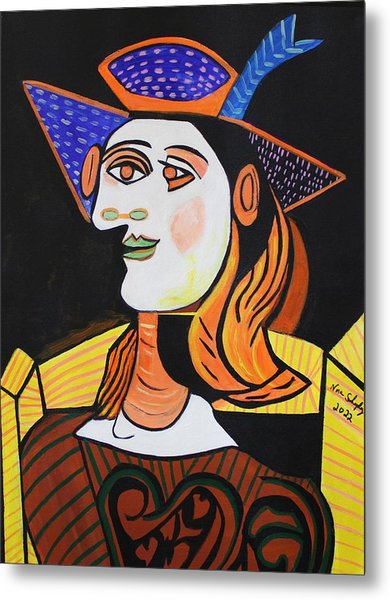 Hair Net  Picasso Metal Print