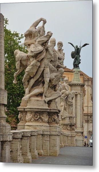 Ponte Vittorio Emanuele II Sculpture Metal Print by JAMART Photography