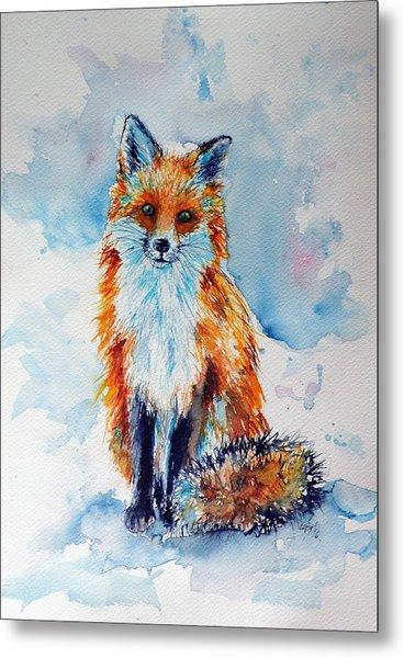 Red Fox Metal Print