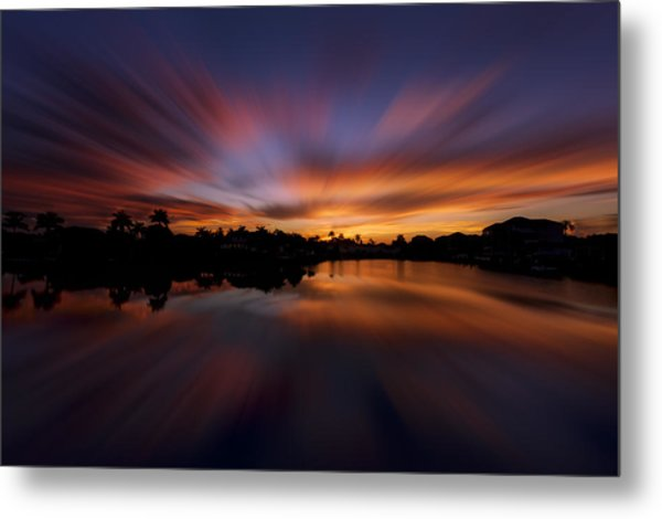 Sunrise At Naples, Florida Metal Print