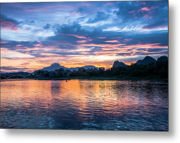 Sunrise Scenery In The Morning Metal Print