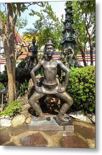 Thai Yoga Statue At Famous Wat Pho Temple Metal Print