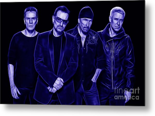 U2 Collection Metal Print