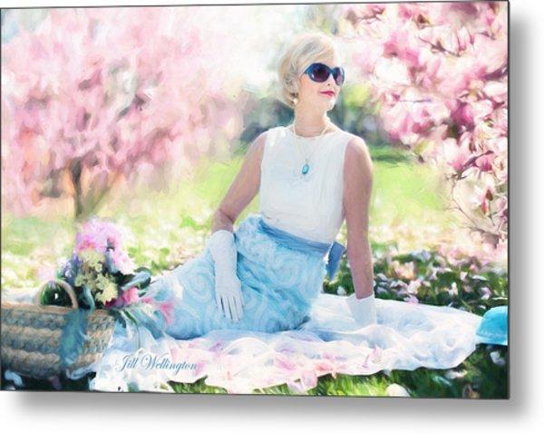 Vintage Val Magnolias Metal Print