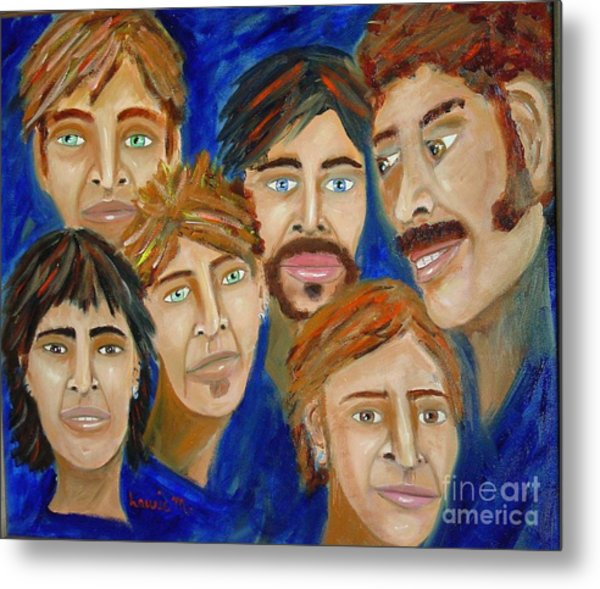 70s Band Reunion Metal Print