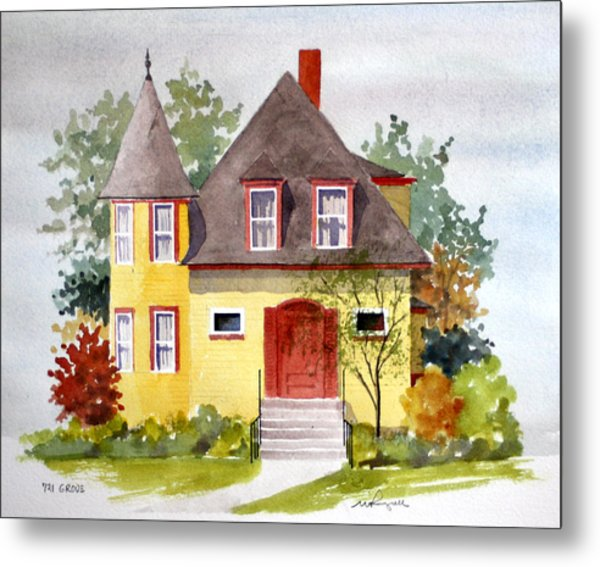 721 Grove Ave Metal Print by William Renzulli