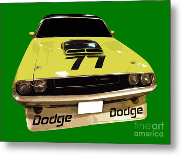 77 Yellow Dodge Metal Print