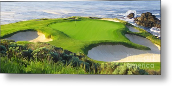7th Hole At Pebble Beach Hol Metal Print