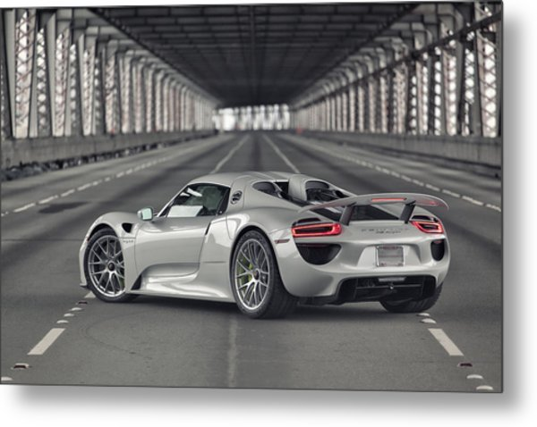 Metal Print featuring the photograph Porsche 918 Spyder  by ItzKirb Photography
