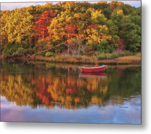 Autumn Reflection  Metal Print by JAMART Photography