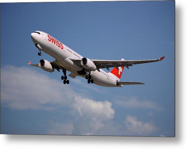 Swiss Airbus A330-343 Metal Print