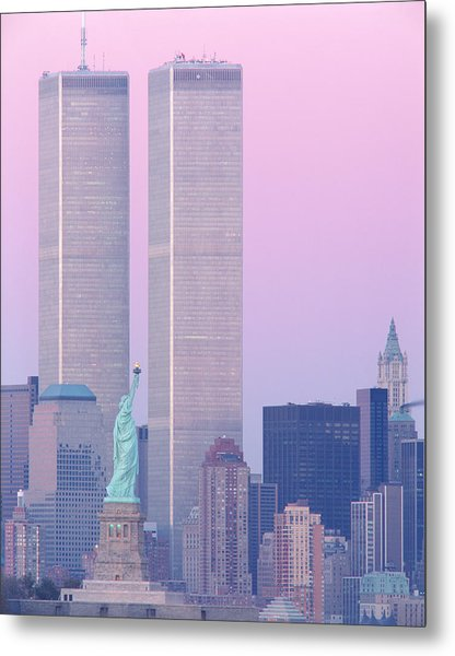 Usa, New York, Statue Of Liberty Metal Print