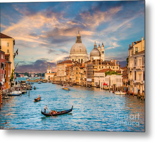 Venice Sunset Metal Print