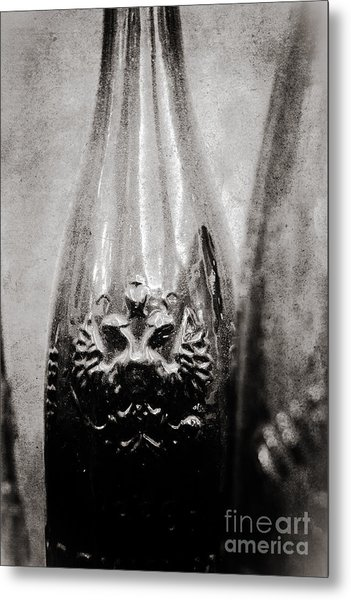 Vintage Beer Bottle Metal Print