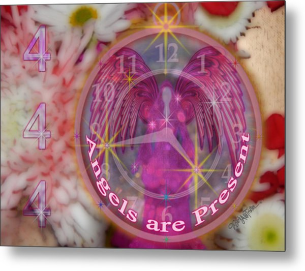 #8913_444 Angels Are Present  Metal Print