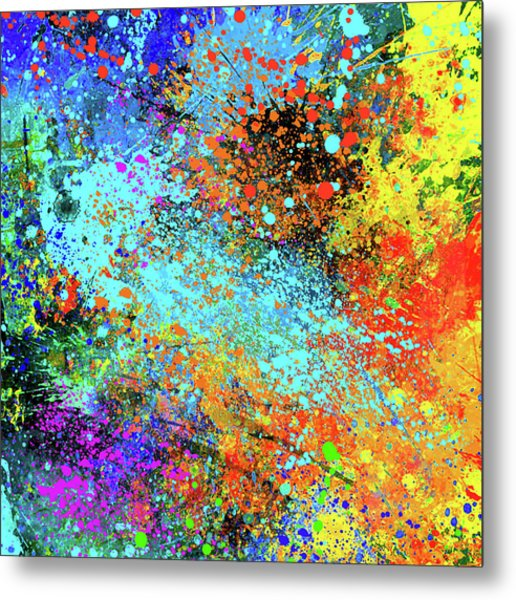 Abstract Composition Metal Print