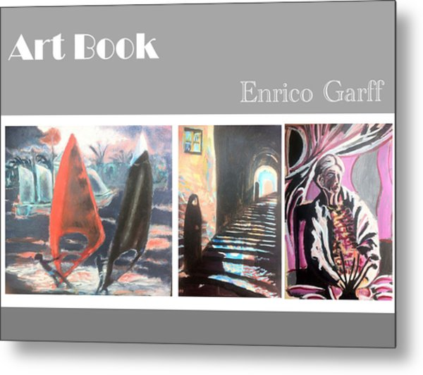Art Book Metal Print