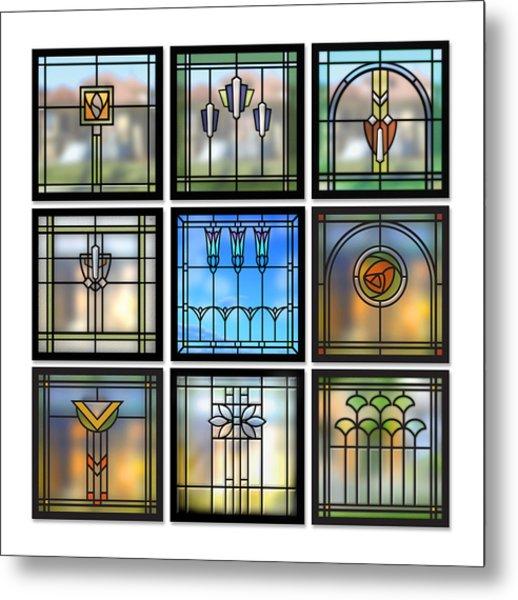9 Bungalow Windows Metal Print