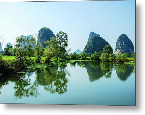 Karst Rural Scenery Metal Print