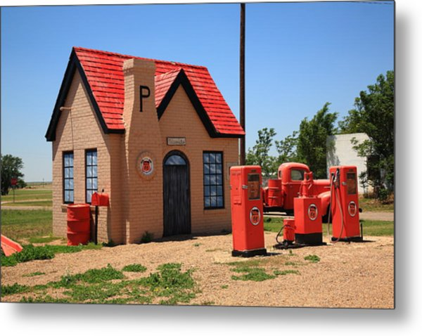 Route 66 - Phillips 66 Gas Station Metal Print