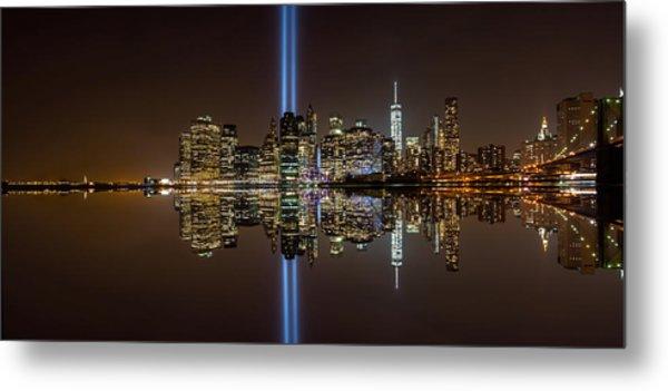 911 Reflection Metal Print