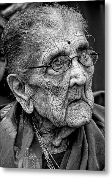 96 Year Old Indian Woman India Day Parade Nyc 2011 2 Metal Print