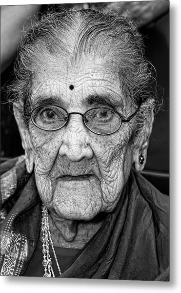 96 Year Old Indian Woman India Day Parade Nyc 2011 Metal Print