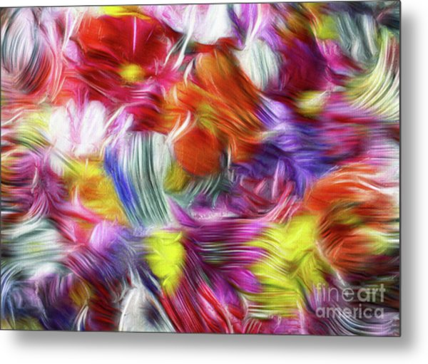 9a Abstract Expressionism Digital Painting Metal Print