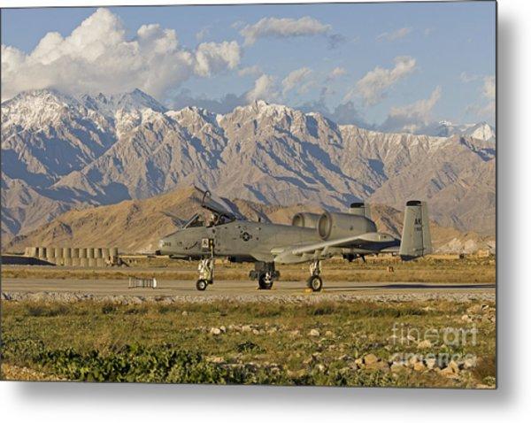 A-10 Warthog At Bagram Metal Print by Tim Grams