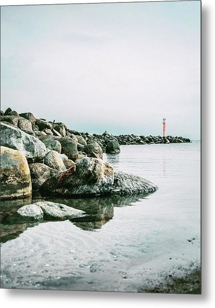 A Bastion Of Calm. The Beach Of Damp In Metal Print
