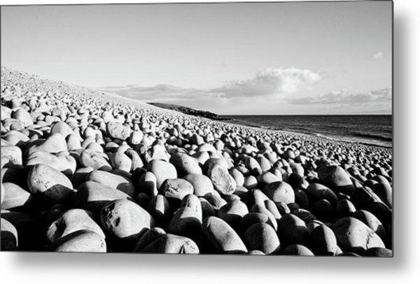 A Beach Of Stones Metal Print