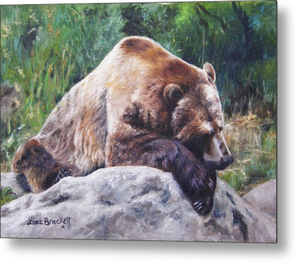 A Bear Of A Prayer Metal Print