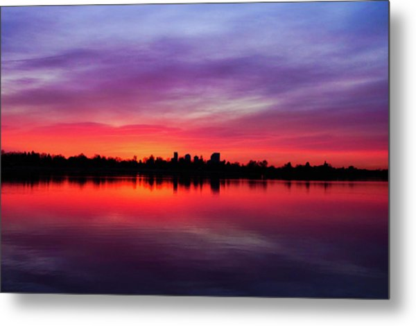 Sunrise At Sloan's Lake Metal Print