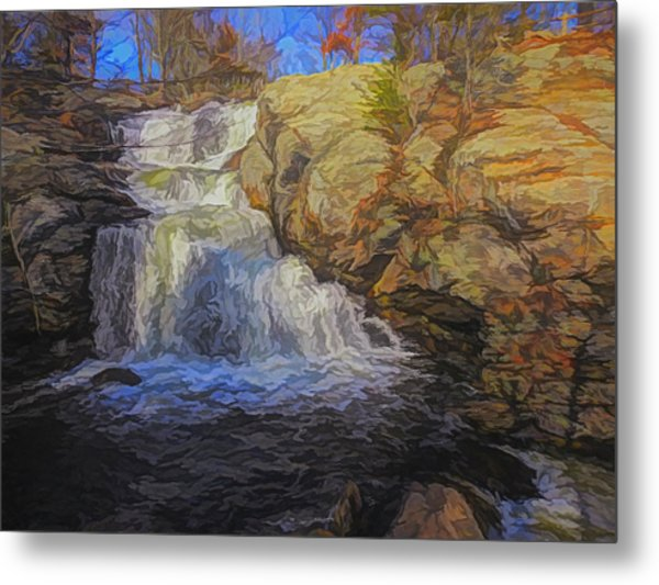 A Beautiful Connecticut Waterfall. Metal Print