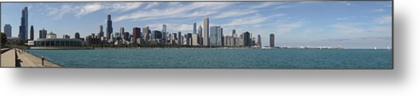 A Beautiful Day In Chicago Metal Print