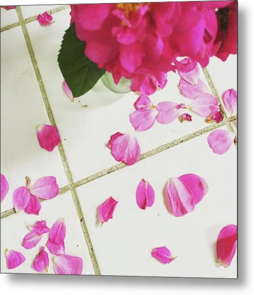 A Beautiful Mess.  #summer #roses Metal Print