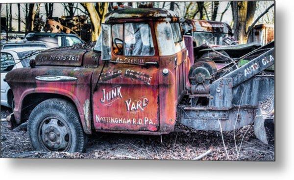 A Beautiful Rusty Old Tow Truck Metal Print
