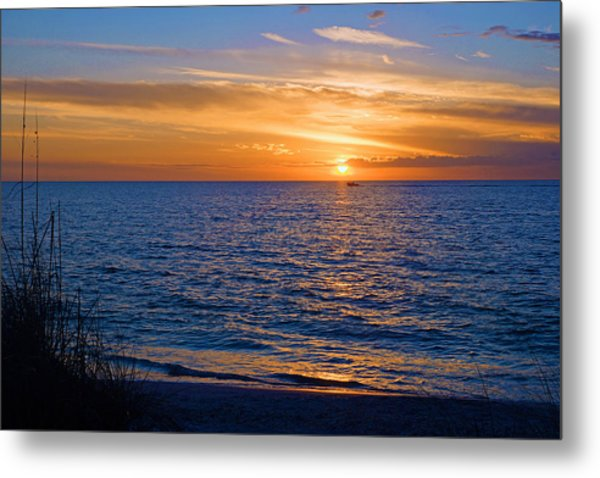 A Beautiful Sunset In Naples, Fl Metal Print