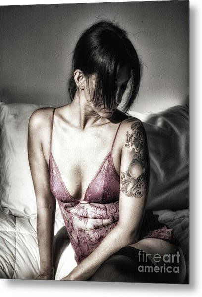 A Bedroom Portrait  Metal Print by ManDig Studios
