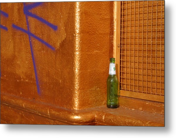 A Beer On The Side Metal Print by Jez C Self